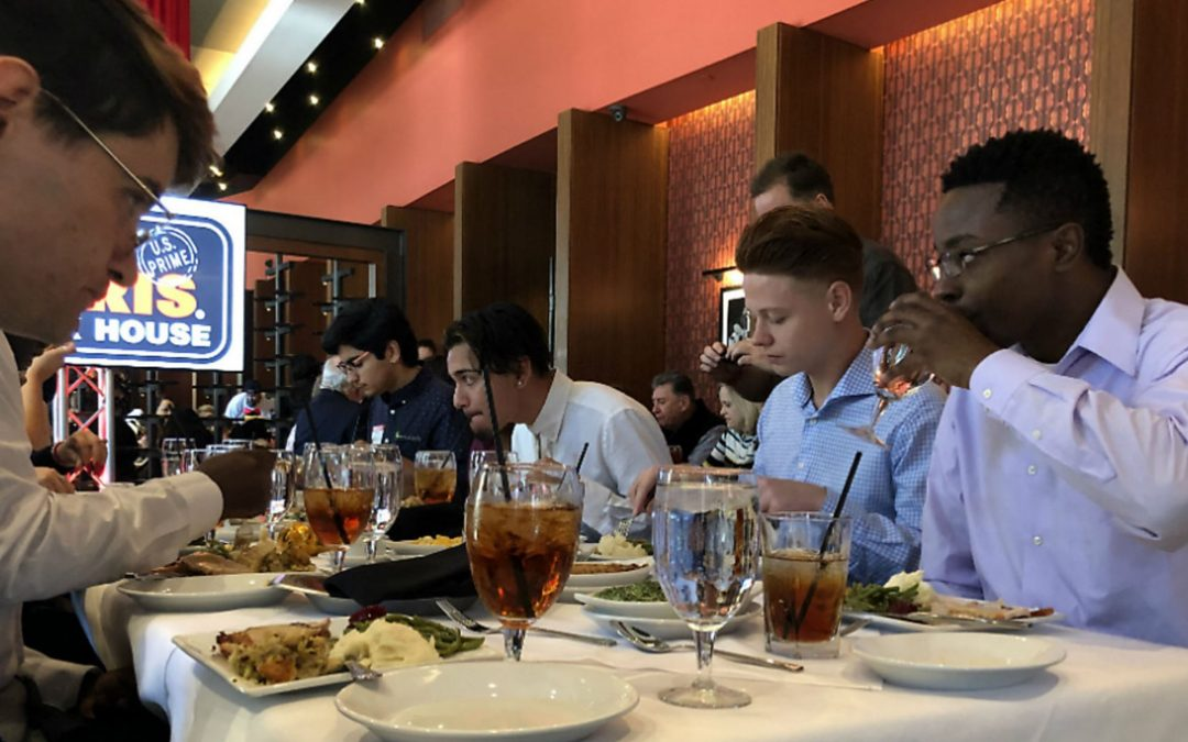 Ruth's Chris Steak House Hosts Dozens of Foster Kids for Thanksgiving Meal